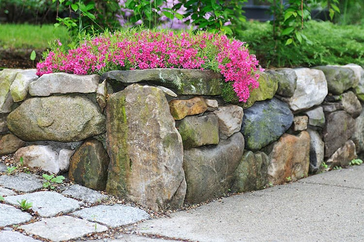Boulder Stack retaining wall