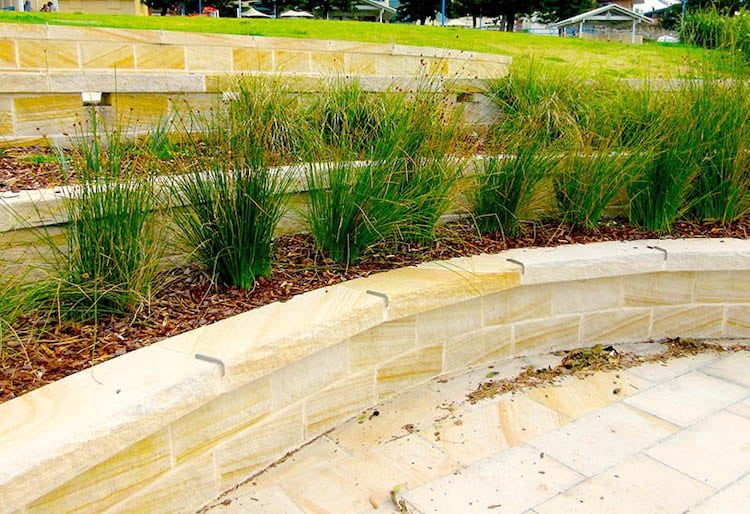 Tiered Terrace retaining wall