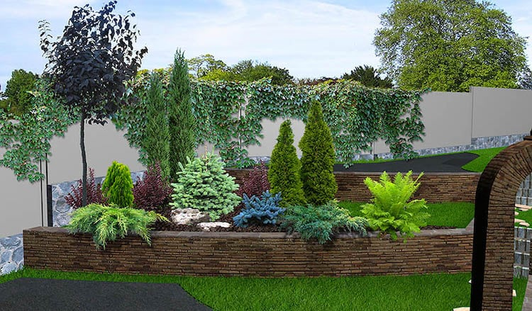 Wall Cladding retaining wall